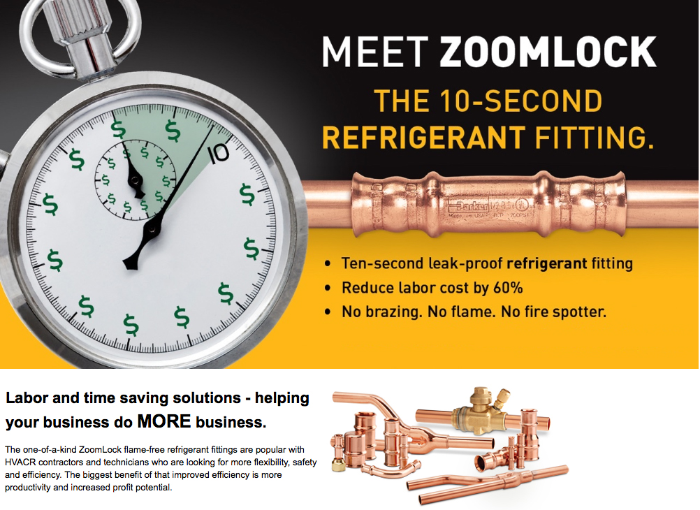Zoomlock Flame Free Refrigerant Fittings