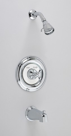 American Standard T215.720 Hampton One Handle Tub & Shower Faucet ...