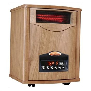 Comfort Furnace 1500 Wox Uv Quartz Infrared Heater Oak