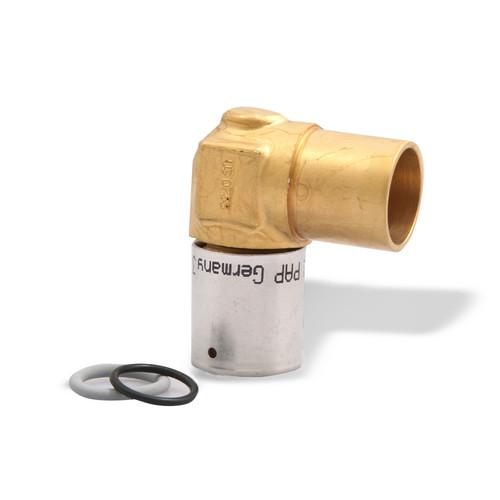 Mlc press fitting baseboard elbow 1 2 mlc tubing x 3 4 for Come collegare pex pipe al rame