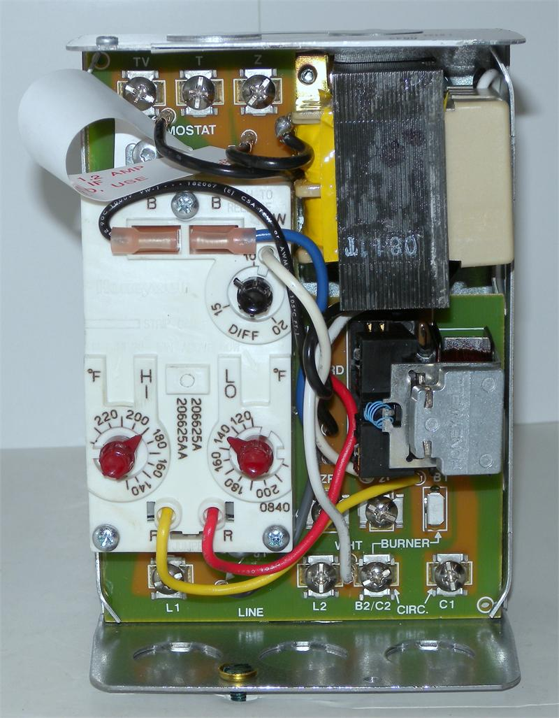 honeywell l8124g1020 triple aquastat relay with high or Honeywell Aquastat  Relay L8124A Aquastat Control Wiring Schematic