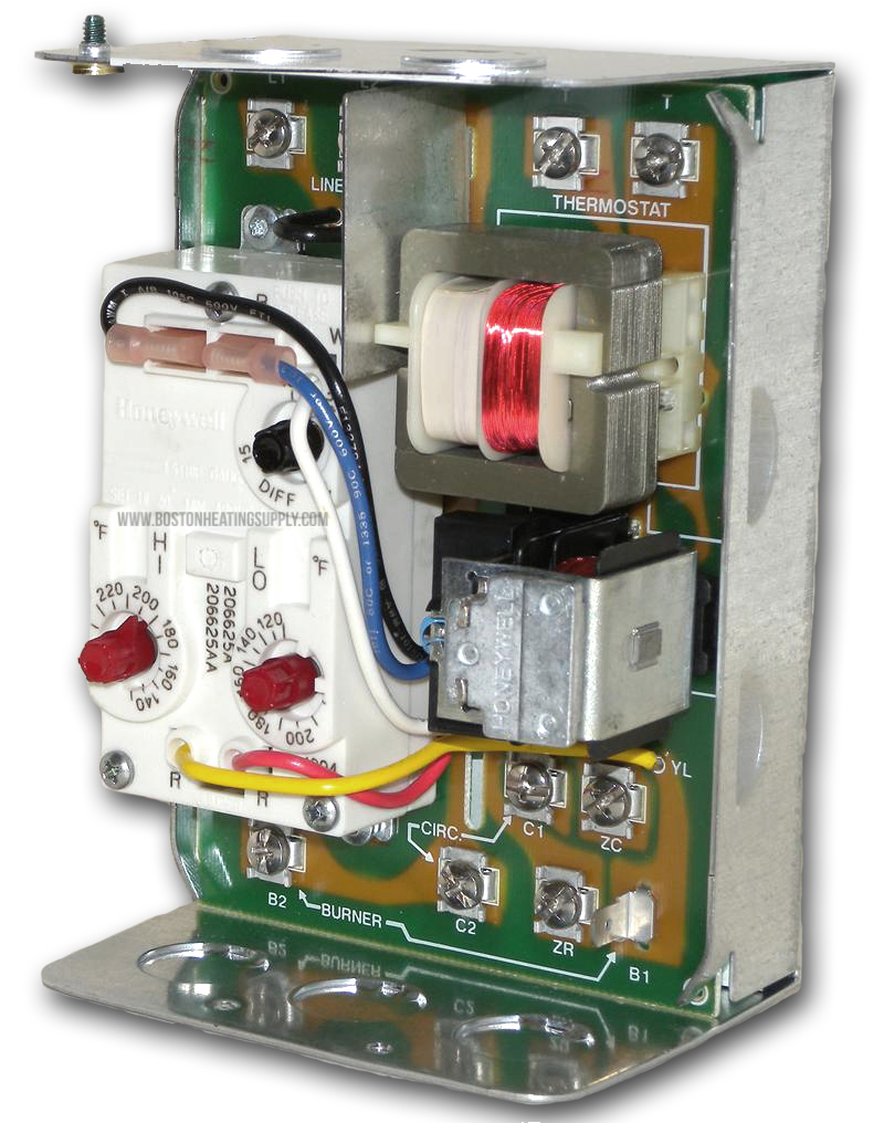 Honeywell L8124A1007 Triple Aquastat Relay on boiler relay, solenoid relay, blower relay, air handler relay, heater relay, furnace relay, hvac relay, contactor relay,