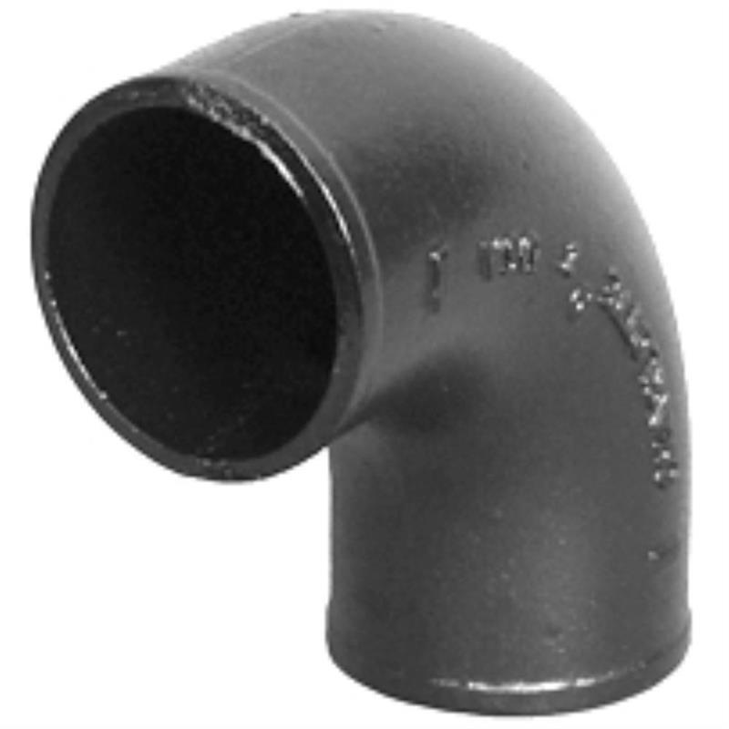 Charlotte cast iron quot no hub quarter bend