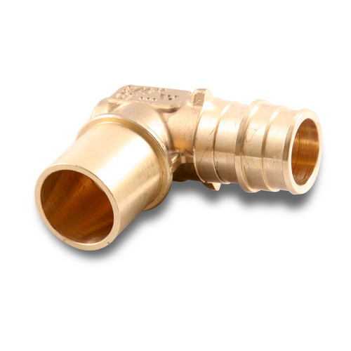 Propex baseboard elbow 5 8 pex x 3 4 copper fitting for Copper pipe to pex fitting