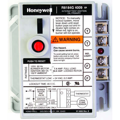 honeywell r8184g4066 protectorelay oil burner control