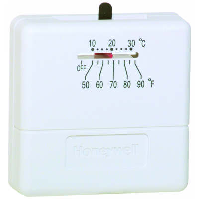 Honeywell Ts812a1007 Premier White 1 Heat Stage Thermostat