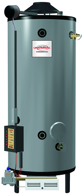 Rheem G100 200 Universal Gas Commercial Water Heater Natural