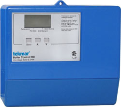 Tekmar, 274, 2-4 Stage Atmosp. Boiler Control w/ Air Make up Contacts & Proof Switch ( Replaces 264)
