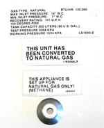 Rheem SP1290B AdvantagePlus Natural Gas Orifice (130,00 BTU)